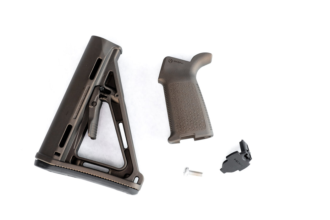 Magpul MOE Mil-Spec Stock and Grip - Midnight Bronze