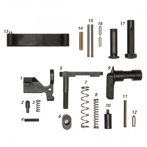 Geissele Mil-Spec Lower Parts Kit (Less Trigger, No Grip)