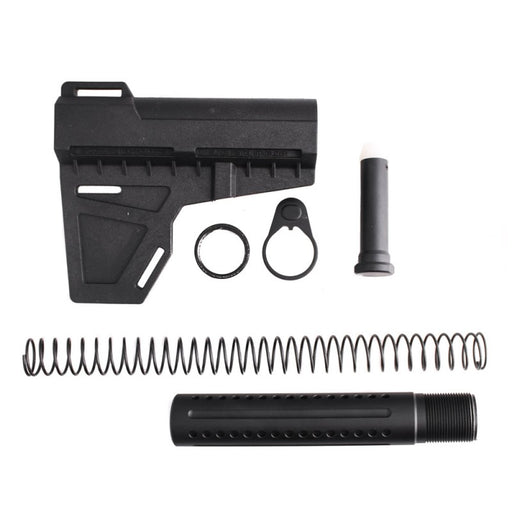 AR-15 Shockwave Blade w/ Tiger Rock Pistol Buffer Tube - Black