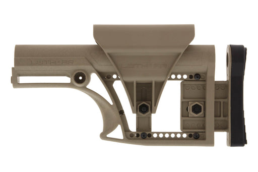 Luth-AR, MBA-1 Fixed Stock, for AR-15 & AR-10 Rifle Length A2 Buffer Tube - FDE