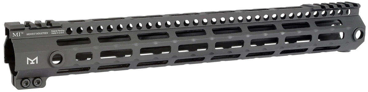 "Midwest Industries 15"" G3 Lightweight Free Float M-LOK Handguard - Black"