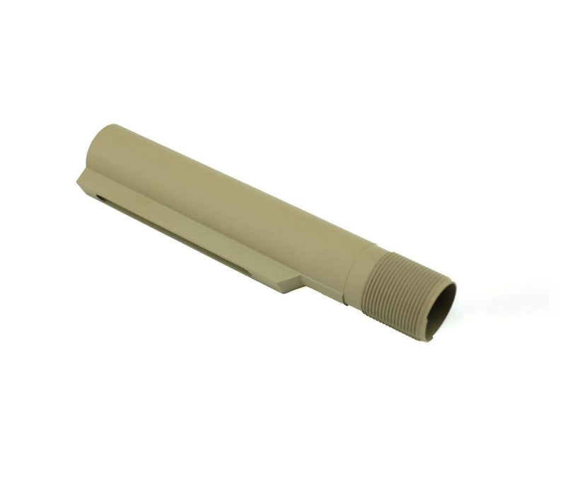 7075//T6 ALUMINUM CERAKOTE FDE 6 POSITION MIL-SPEC RECEIVER EXTENSION USA
