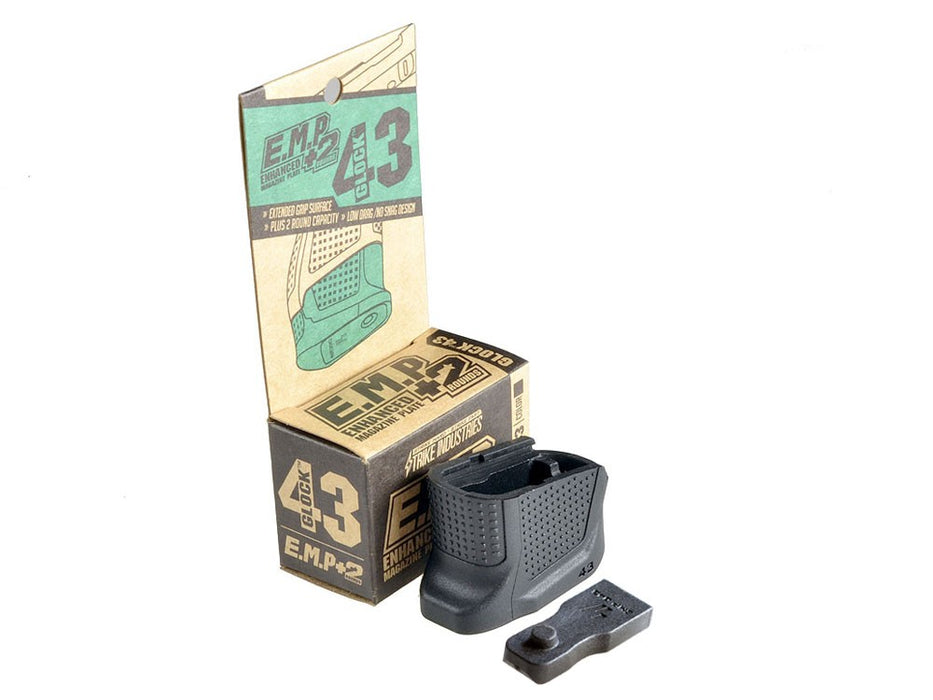 Strike Industries Enhanced Magazine Plate for Glock G43 - Black