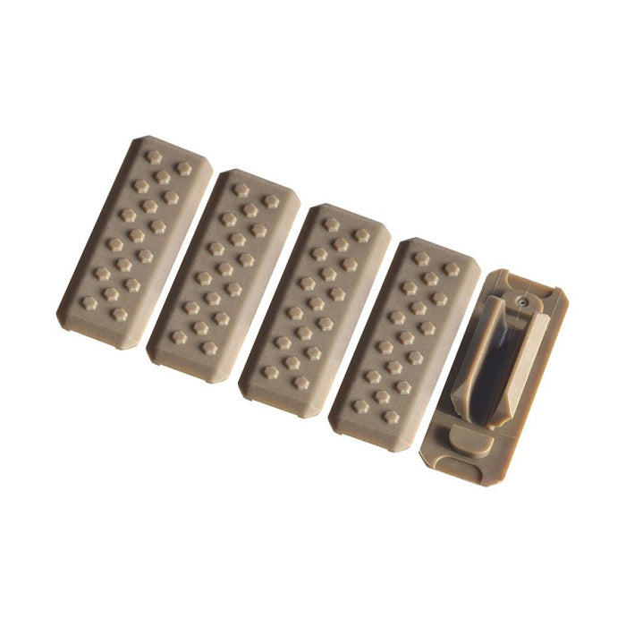 Strike Industries M-LOK Rail Covers - V1 - (Black, FDE)