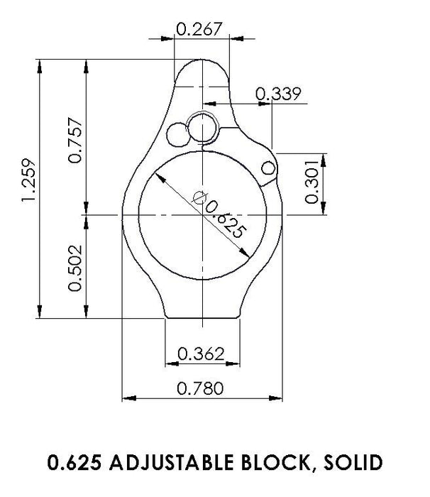 Superlative Arms .625 Adjustable Gas Block - Solid - Melonited