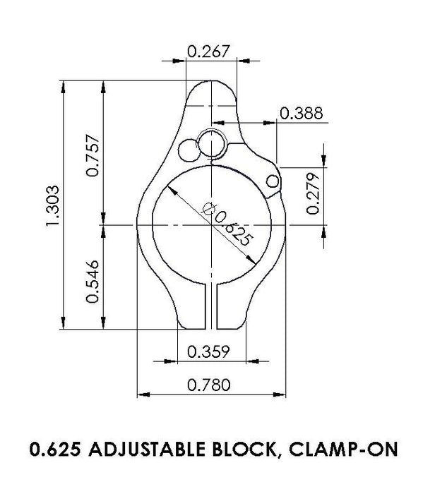 Superlative Arms .625 Adjustable Gas Block - Clamp On - Melonited