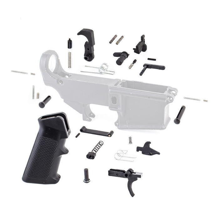 Tiger Rock AR-15 Lower Parts Kit w/ Standard Grip & Trigger Guard