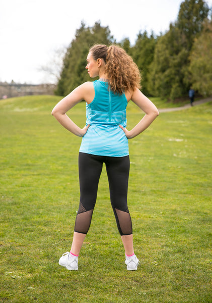 TEMA Athletics Turquoise Biker Top