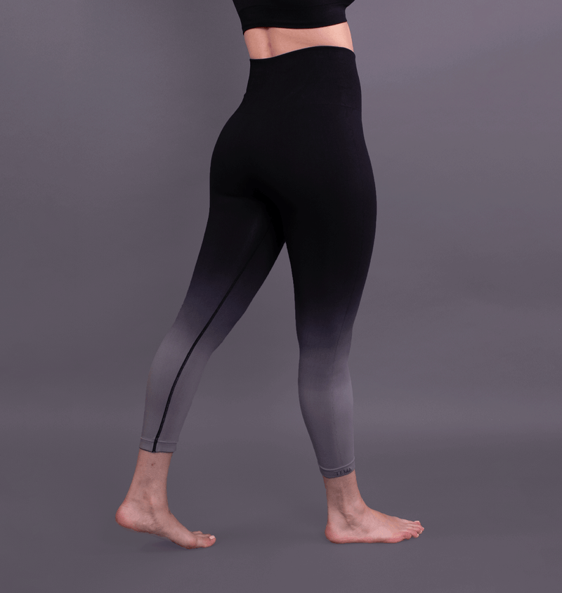 TEMA Athletics Seamless Black Ombre Leggings