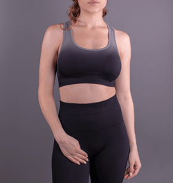 TEMA Athletics Seamless Black Ombre Bra