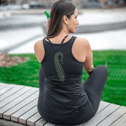 TEMA Athletics Fern Embroidered Yoga Tank