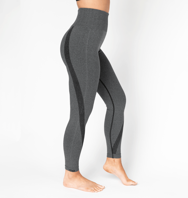 TEMA Athletics High Waist Compression Tuxedo Twist Seamless Leggings