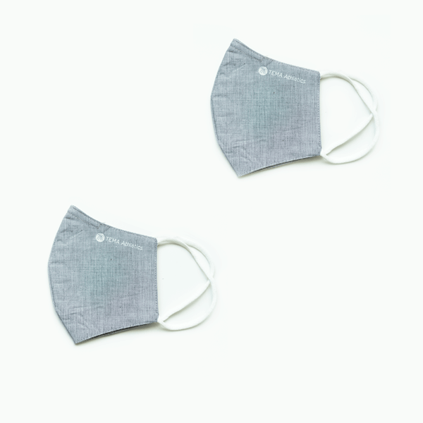 Pack of 2 Chambary Face Masks with Pocket for Removable Filter