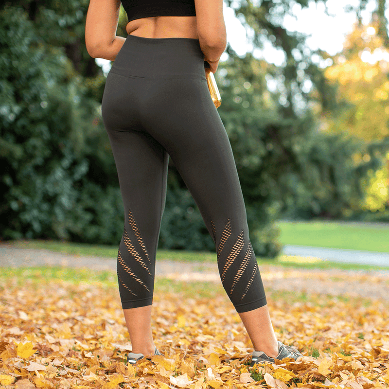 High Waist Compression Seamless Green Wings Leggings