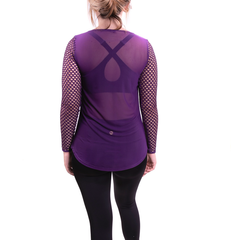 New Big Mesh Long Sleeved Tee Purple