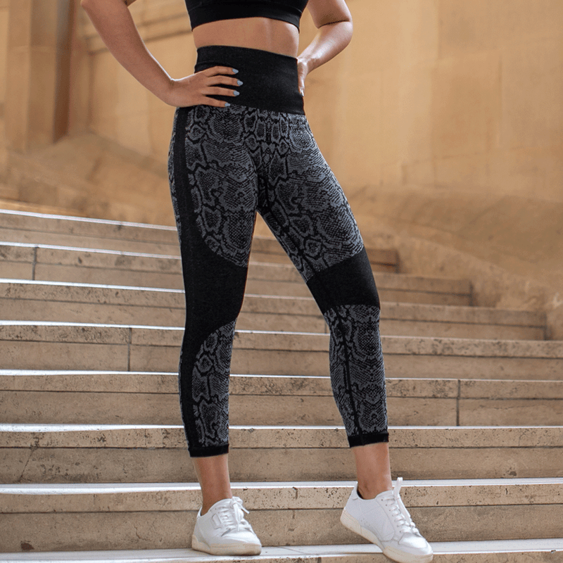 Seamless Ultra High Waist Python  Leggings