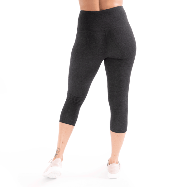 Heather Black Double Mesh Slits High Waist Leggings