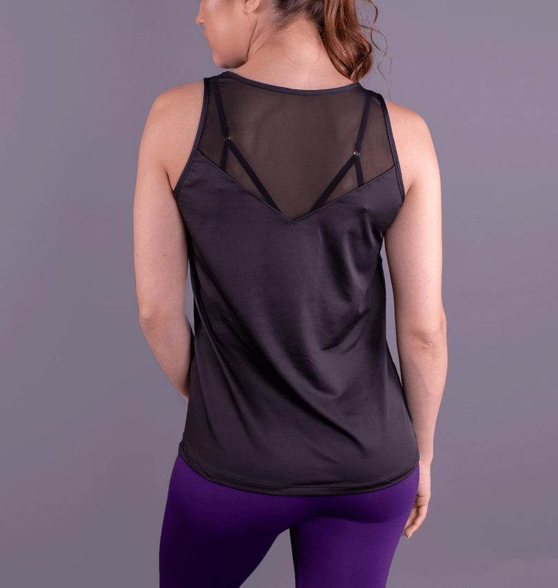 TEMA Athletics Black Chevron Racerback Tank
