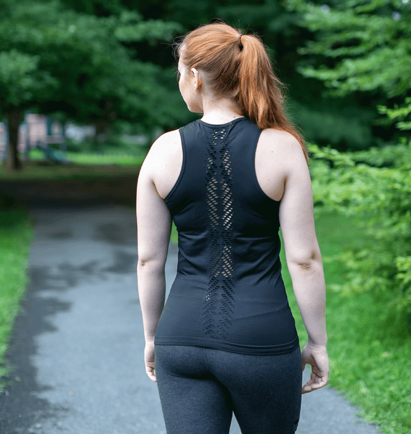 TEMA Athletics Seamless Black Leaf Tank