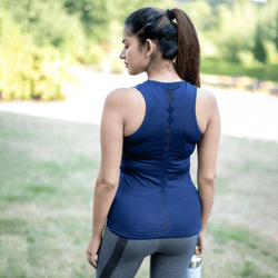 TEMA Athletics Seamless Blue Scallop Activewear Tank