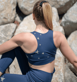 TEMA Athletics Seamless Blue Star Bra