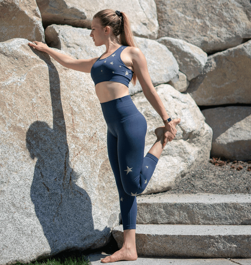 TEMA Athletics High Waist Seamless Blue Star Leggings