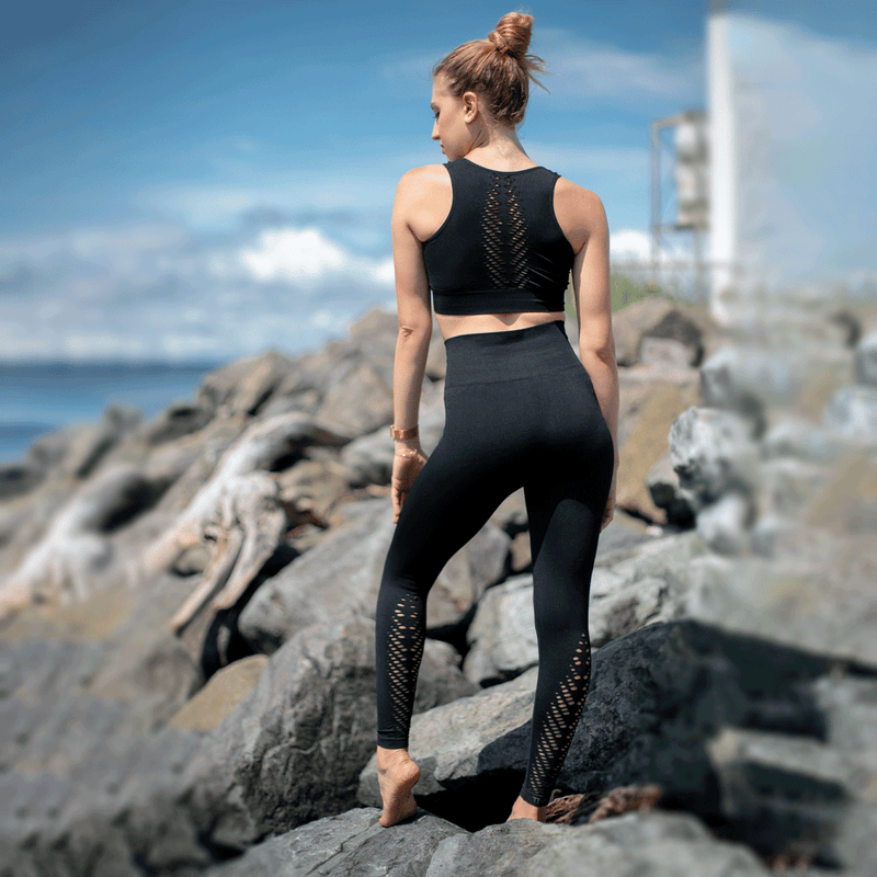 TEMA Athletics High Waist Compression Seamless Leaf Leggings