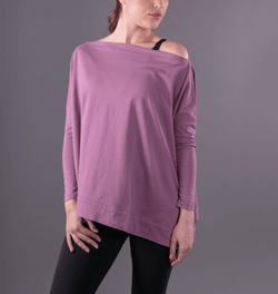 TEMA Athletics Mauve Convertible Off Shoulder Layering Tunic & Cardigan