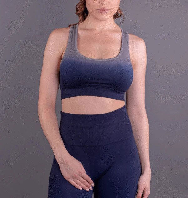Seamless Navy Ombre Convertible Bra