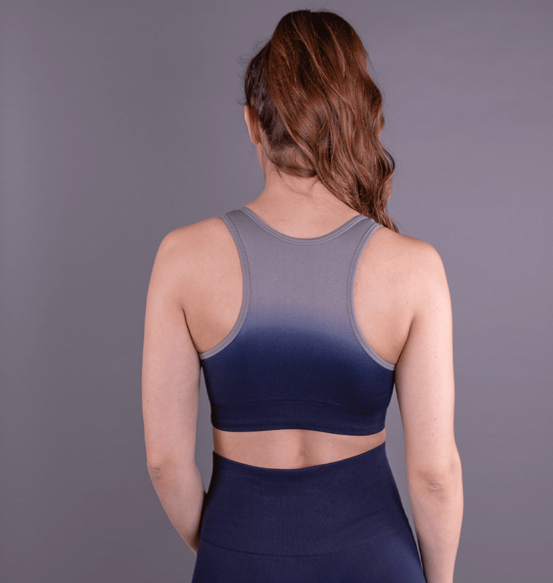 TEMA Athletics Seamless Blue Ombre Bra