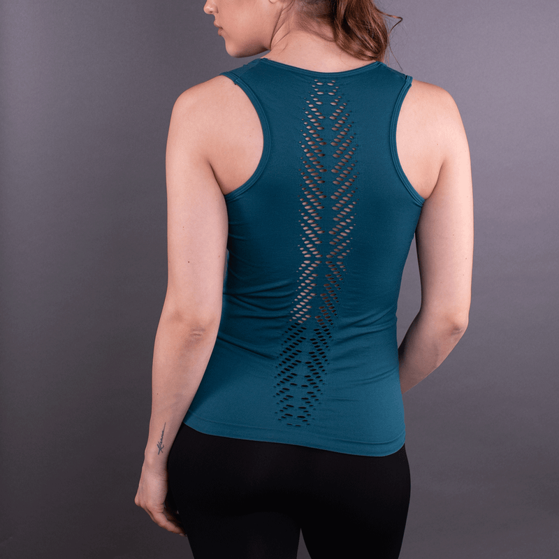 TEMA Athletics Seamless Teal Leaf Tank