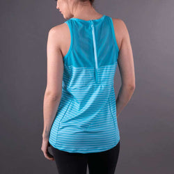 Turquoise Stripes Biker Unleashed Tank
