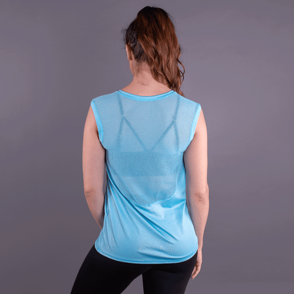 TEMA Athletics Turquoise Mesh Back Tank