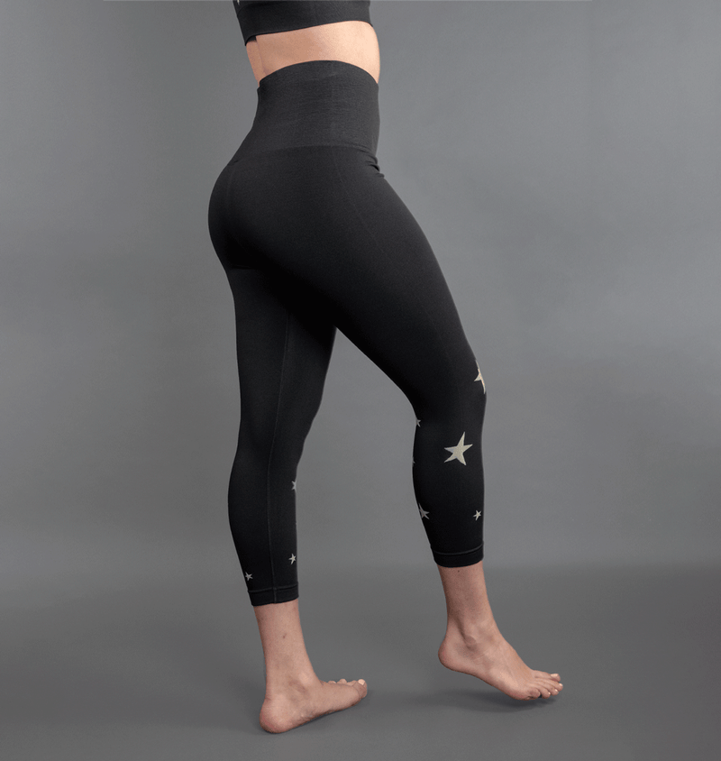 TEMA Athletics High Waist Seamless Black Star Leggings