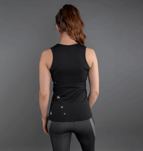 Seamless Black Star Activewear Tank