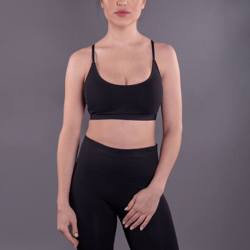 TEMA Athletics Black Double Strap Bra