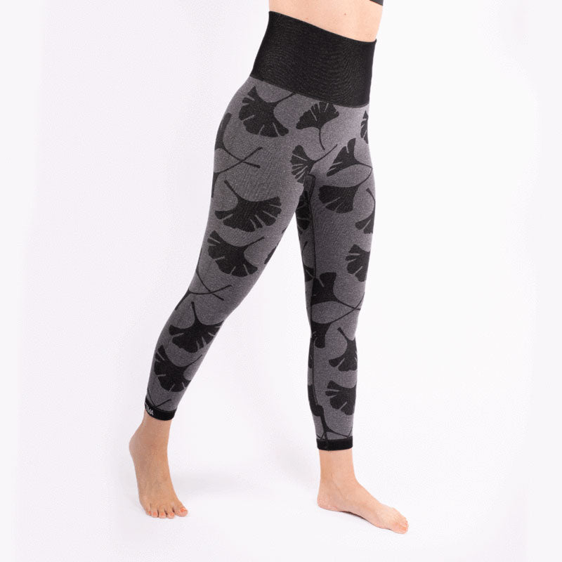 Reversible Seamless High Waist Ginkgo Leaf Leggings