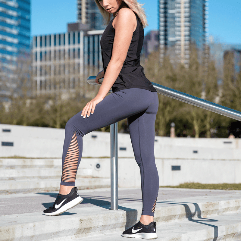 TEMA Athletics High Waist Cage Detail Compression Yoga Leggings