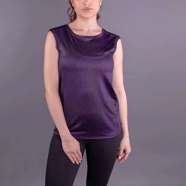 TEMA Athletics Purple Animal Print Mesh Back Tank