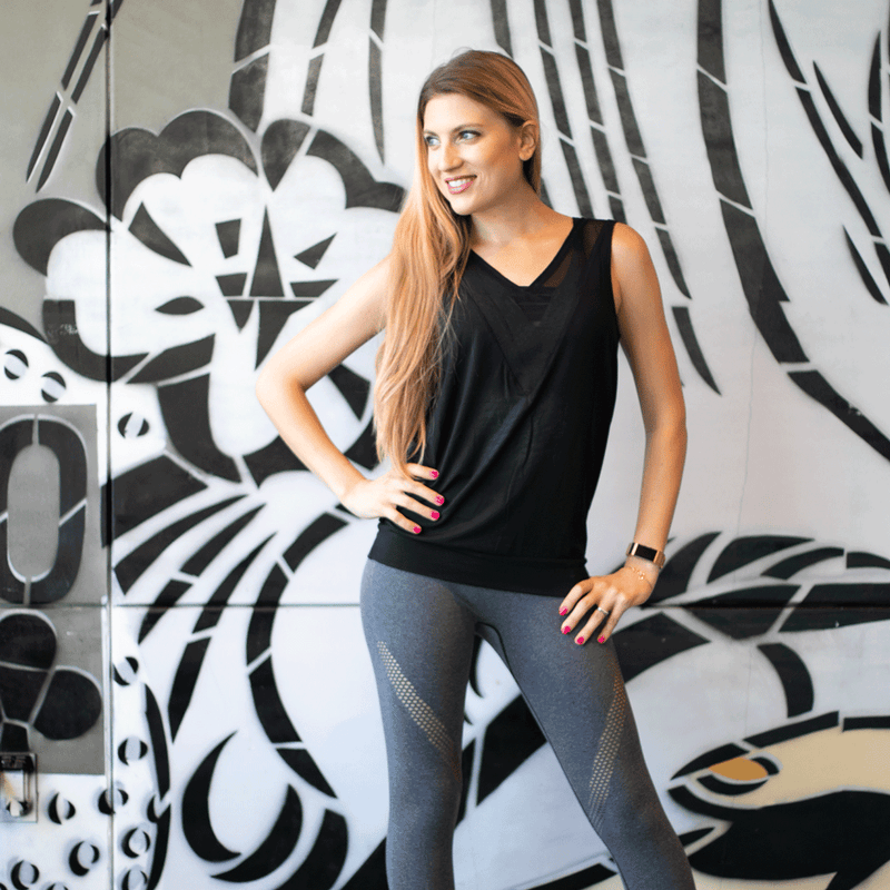 TEMA Athletics Black Reversible Crossover Yoga Tank