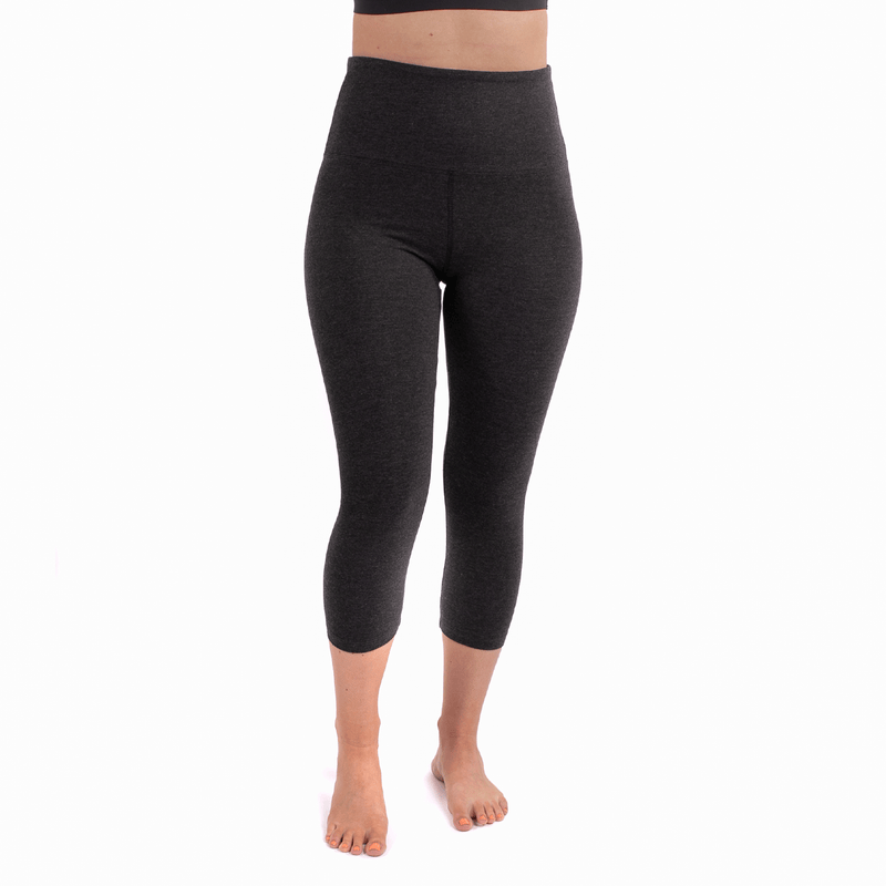TEMA Athletics High Waist Tummy Tuck Black Melange Leggings