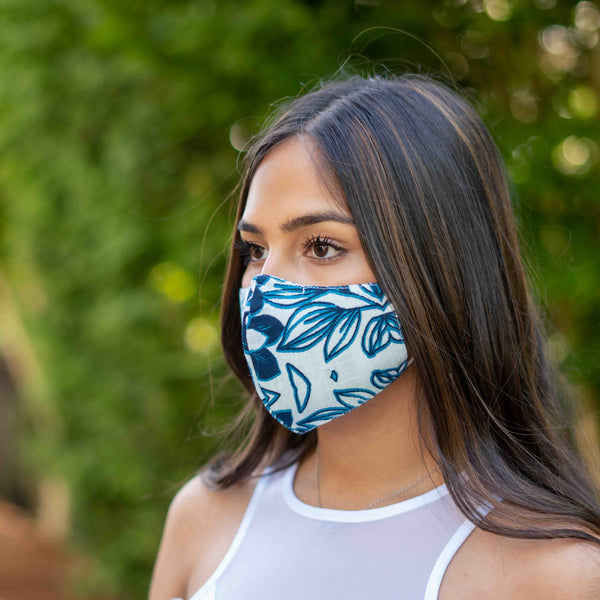 Pack of 3 Printed Face Masks with Pocket for Removable Filter