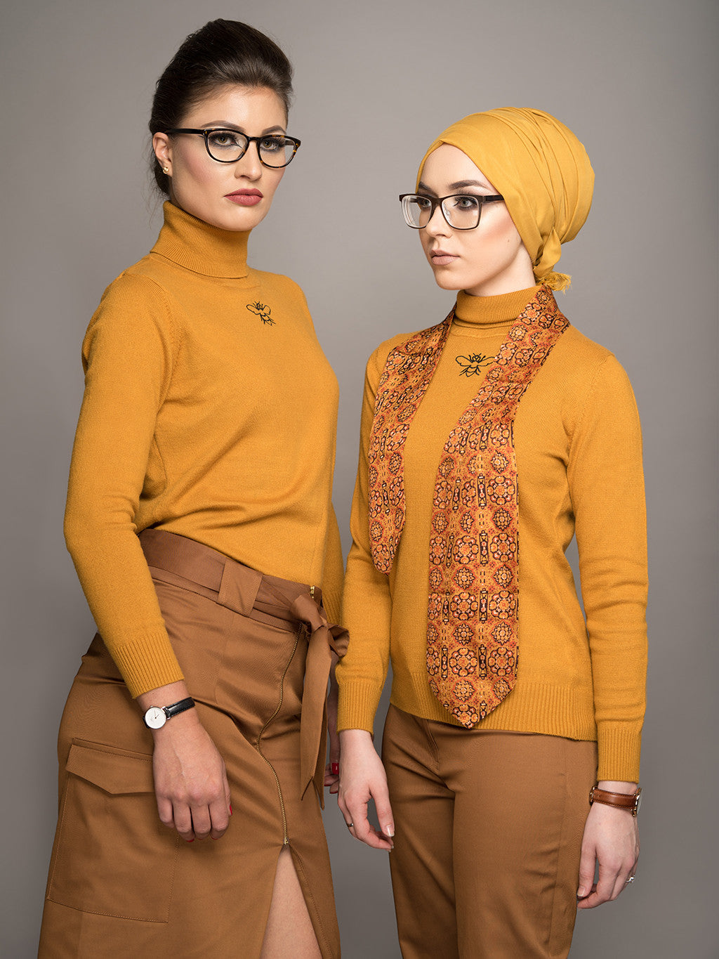 Mustard Turtleneck Sweater - Sold Out