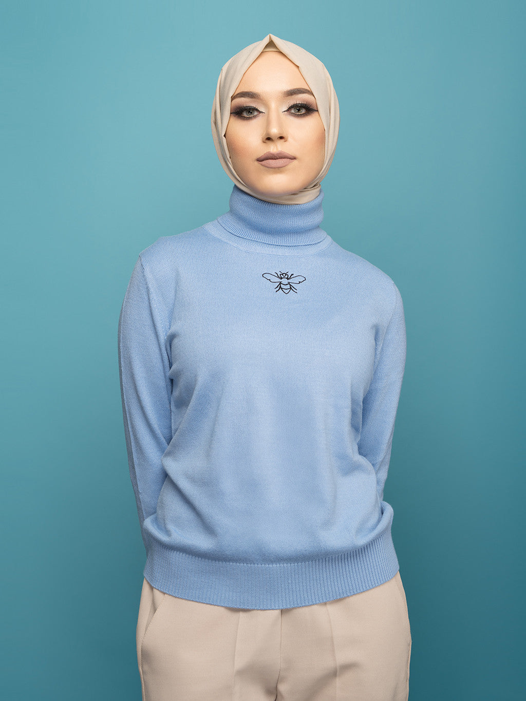Sold Out - Blue Turtleneck Sweater