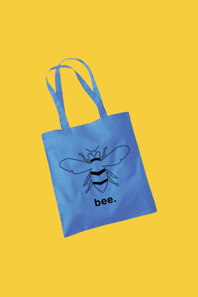 Bee Tote - Blue