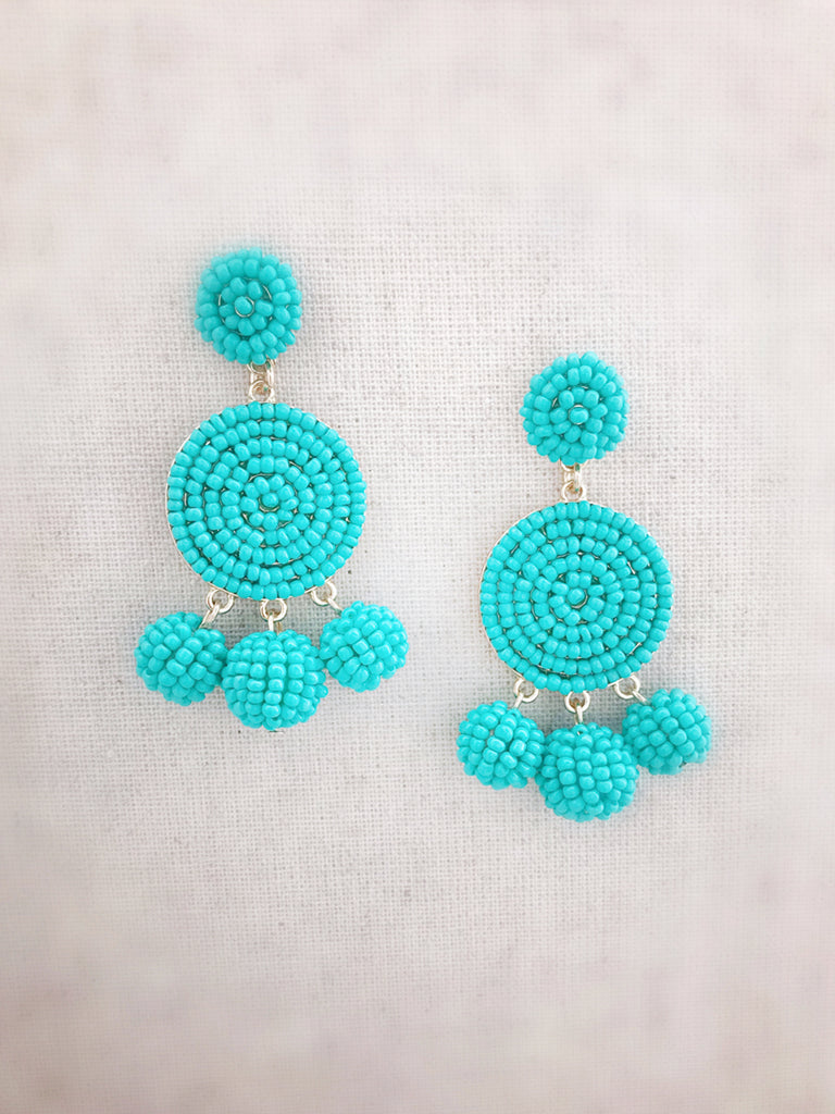 round demi earrings seed roun beaded pattern beads stylish jewellery crescent only product beading bead beadedtreasury tutorial
