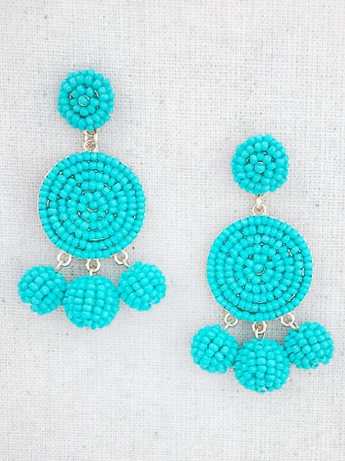 Kamuela Beaded Earrings {Turquoise}