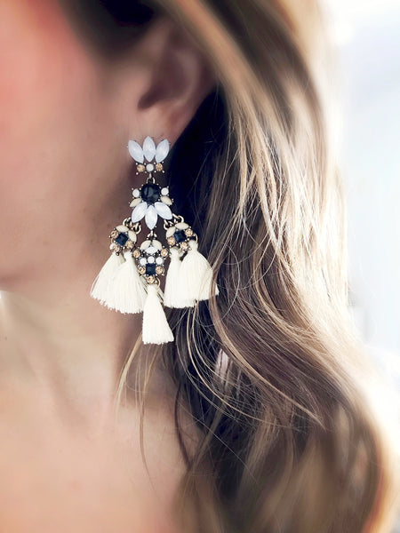 Kaanapali Tassel Earrings {Gray}