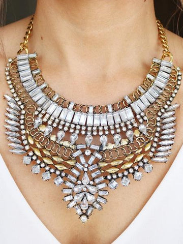 Kahuku Statement Necklace - {Gold}