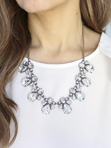 Crystal statement necklace, statement necklace, bridal jewelry